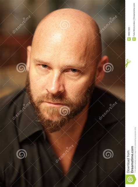 pictures of bald portrait of a handsome bald royalty free stock images