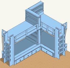 Corner Bunk Bed Plans Corner Bunk Beds Built In Bunk Bed Plans 4 Bed Corner Plan