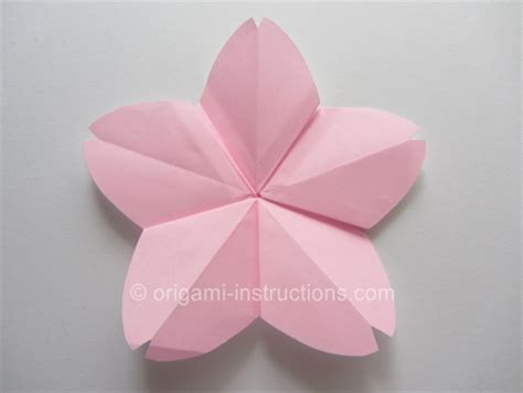 Origami Cherry - how to origami cherry blossom happily after
