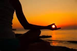 Yoga sunset meditation women picture imagefully com