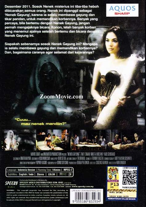 film kembalinya nenek gayung nenek gayung dvd indonesian movie 2012 cast by zacky