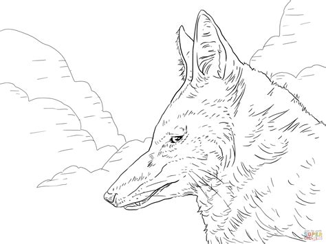 template simple wolf and simple wolf coloring page coloring pages