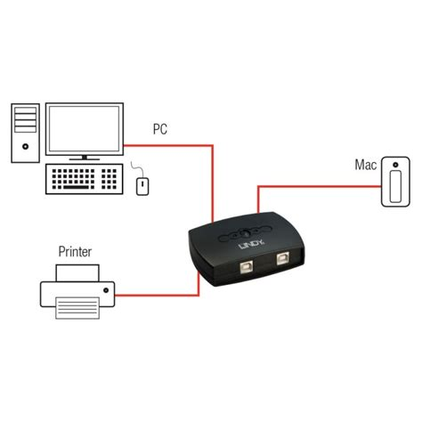 porte usb 2 0 2 port usb 2 0 autoswitch from lindy uk