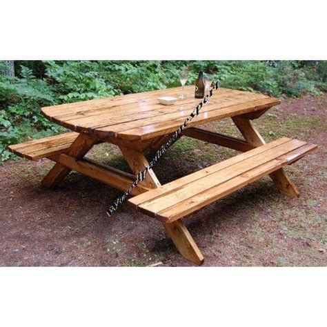 make your own picnic bench build your own wood picnic table family size park style