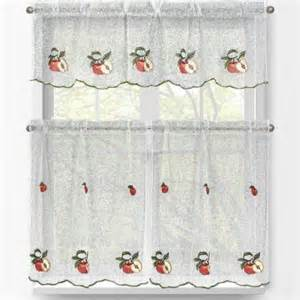 Apple Curtains For Kitchen Window Elements Apple Embroidered 3 Kitchen Curtain Tier And Valance Set Ymc001854