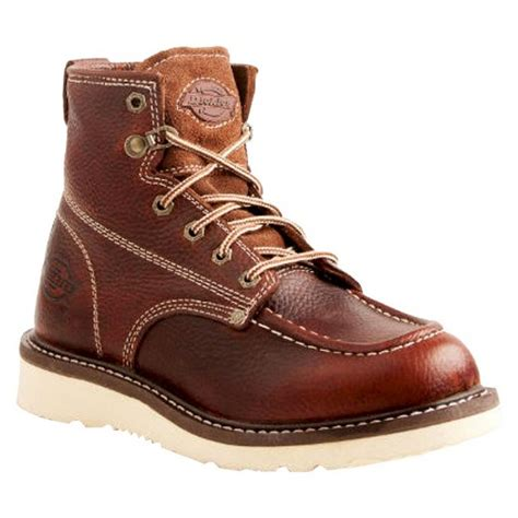 leather work boots for dickies 174 s trader leather work boots oak target