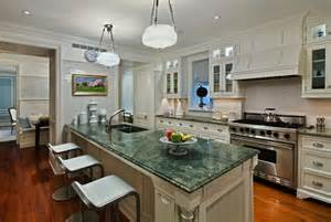 ideas for a kitchen with forest green granite countertops