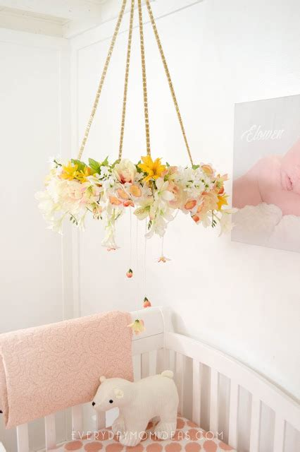 Floral Chandelier Diy Diy Floral Baby Mobil Chandelier Tutorial Everyday Ideas