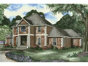 2 story brick house plans tamara two story home plan 055d 0453 house plans and more