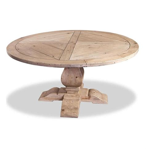 Light Wood Dining Tables Ludlum Neoclassical Rustic Light Wood 60 Quot D Dining Table