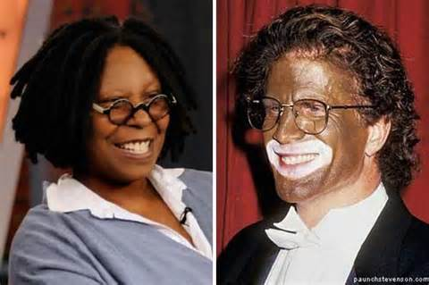 when did color tv began whoopi goldberg talks blackface on the view leaves out