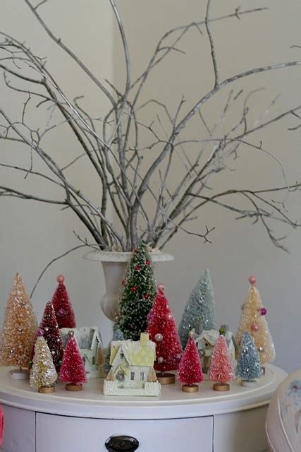 brush tree decorated 17 best images about bottle brush putz on vintage style trees and