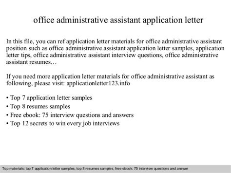 application letter government office office administrative assistant application letter