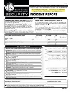 Sample Security Guard Incident Report Best Photos Of Sample Security Report Template Security