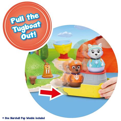 large paw patrol boat weebles paw patrol pull and play seal island playset ebay