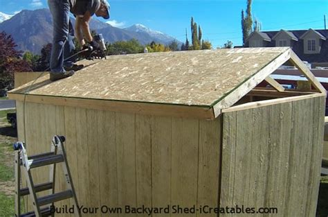 how to build a shed roof icreatables