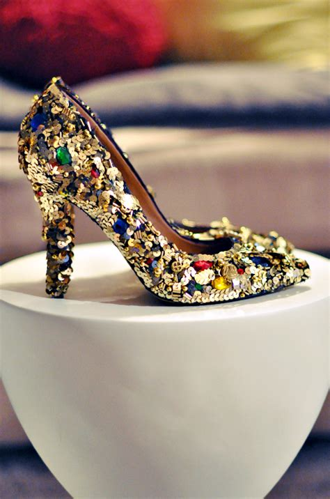 diy shoes diy dolce gabbana gold embellished shoes