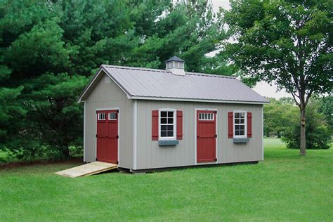 Backyard Buildings by Photo Gallery Of The Lancaster Style Shed From Overholt In