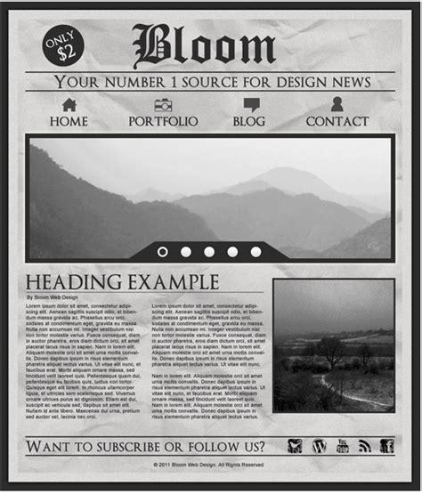 Design a Grungy Newspaper Web Layout in Photoshop  DesignBump