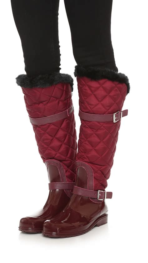 Quilt Boots by Michael Michael Kors Fulton Quilted Boots In Lyst