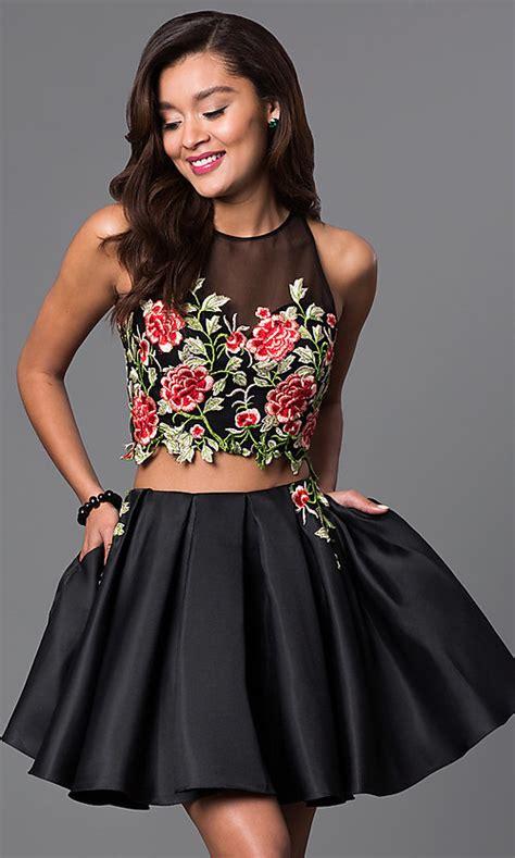 piece short lace bodice  black dress