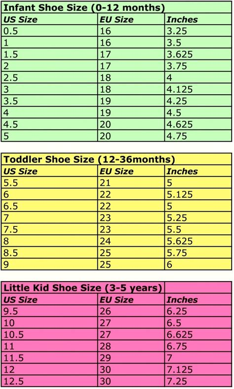 size chart shoes european shoe size chart printable