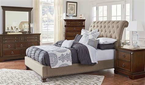 charleston bedroom furniture charleston burnished tobacco upholstered bedroom set 960