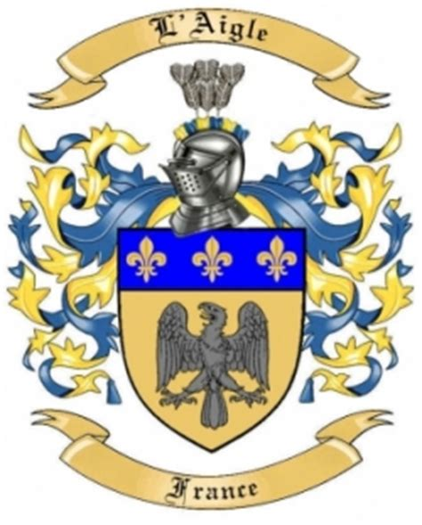l aigle family crest from by the tree maker