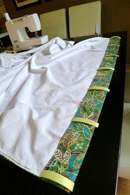 sheets into curtains adding tab backs by meredithheard via flickr turning