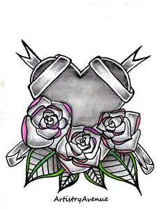 heart tied with roses tattoo by artistryavenue on deviantart