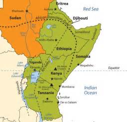 East Africa Map by East Africa