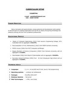 Sample Resume Objectives For It Freshers by Your Career Objective