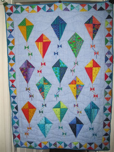 Quilt Pattern Kites | baby girls quilts kites nice baby quilts kids quilts