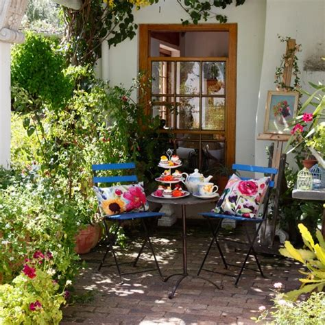 life outside the bubble french bistro kitchen blue bistro garden dining area artist inspired