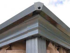 garten pavillon alu aluminium pavillon hardtop 3x3 6m set neu ovp ebay
