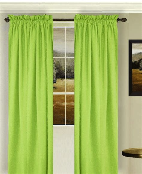 lime green bedroom curtains lime green long curtain set