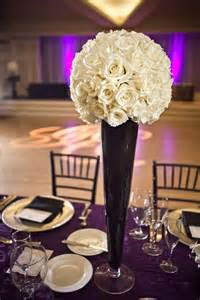 black reception vase decorations