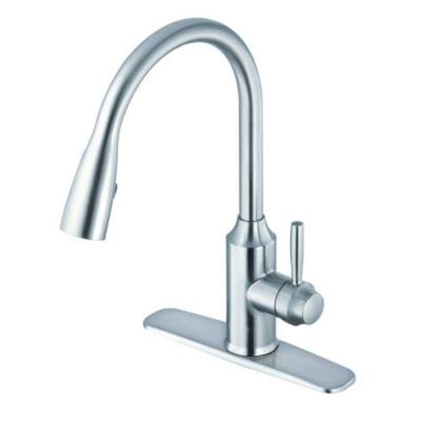 glacier bay single handle kitchen faucet glacier bay invee single handle pull down sprayer kitchen
