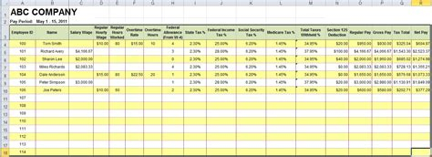 10 Payroll Spreadsheet Template Secure Paystub Payroll Template Excel Free