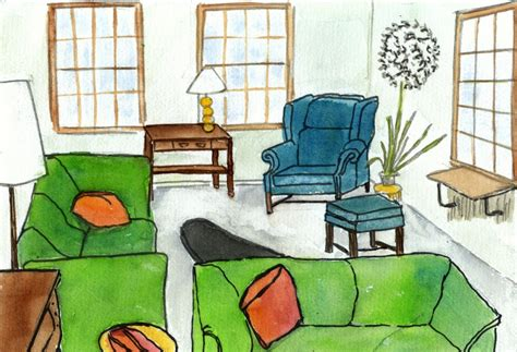 livingroom cartoon living room cartoon picture