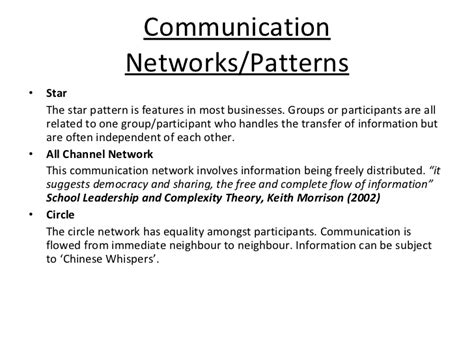 pattern of communication in organization the use of communication technology for organizational