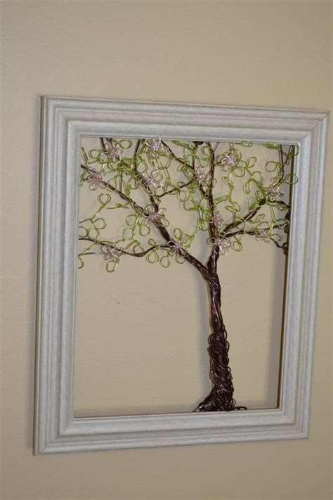 framed flowers on copper sheet craft ideas pinterest images of wire jewelry display trees google search