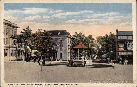 Post Office Martinsburg Wv by Square Showing Band Stand Martinsburg Wv