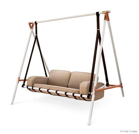 couch swing the fable swing is a chic version of grandma s ugly porch
