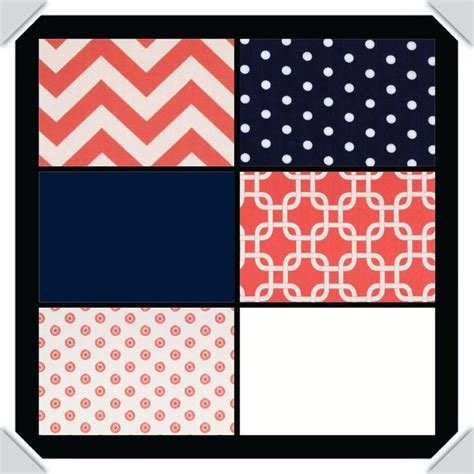 navy blue and coral bedroom custom crib bedding coral and navy blue 238 00 via