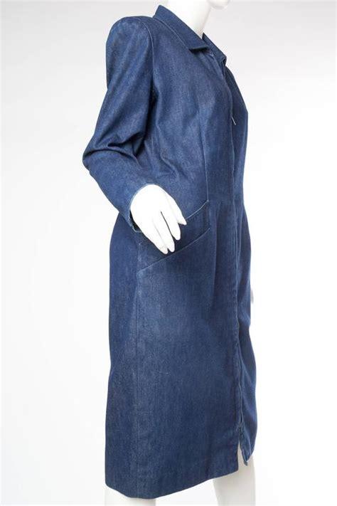 Dress Dona Denim 1980s donna karan denim coat dress for sale at 1stdibs