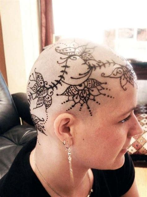 henna tattoo on bald head silk spa portland oregon cosmetic therapeutic
