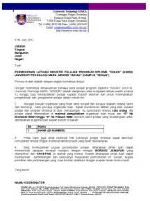 contoh surat permohonan praktikal uitm negeri sembilan