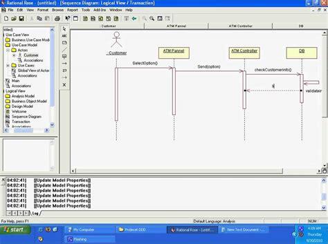 cara membuat sequence diagram pada rational rose tutorial sequence diagram using rational rose avi youtube