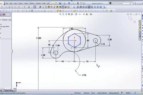 tutorial solidworks beginner solidworks for beginner sketch 2d grabcad